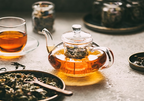 Bijzondere verse losse thee